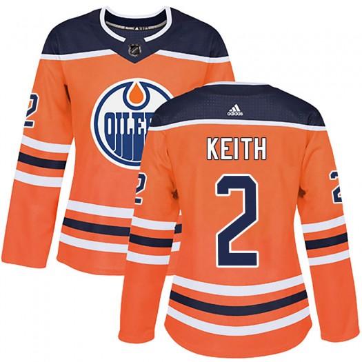 Duncan Keith Edmonton Oilers Women's Adidas Authentic Orange r Home Jersey