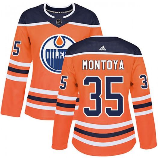 Al Montoya Edmonton Oilers Women's Adidas Authentic Orange r Home Jersey