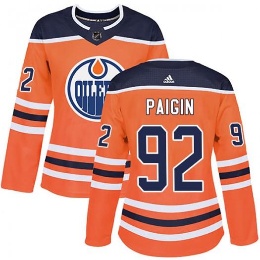 Ziyat Paigin Edmonton Oilers Women's Adidas Authentic Orange r Home Jersey