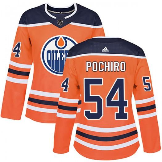 Zach Pochiro Edmonton Oilers Women's Adidas Authentic Orange r Home Jersey