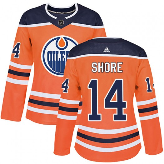 Devin Shore Edmonton Oilers Women's Adidas Authentic Orange r Home Jersey