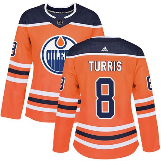 Kyle Turris Edmonton Oilers Women's Adidas Authentic Orange r Home Jersey