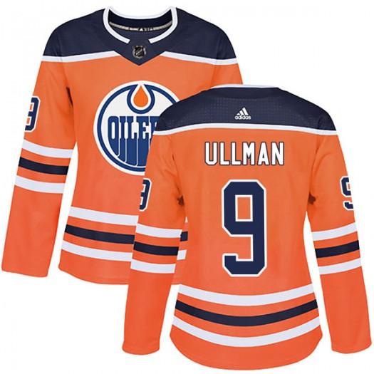 Norm Ullman Edmonton Oilers Women's Adidas Authentic Orange r Home Jersey
