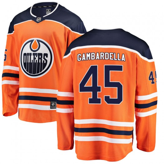 Joe Gambardella Edmonton Oilers Men's Fanatics Branded Orange Breakaway Home Jersey