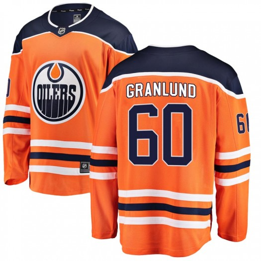 Markus Granlund Edmonton Oilers Men's Fanatics Branded Orange Breakaway Home Jersey