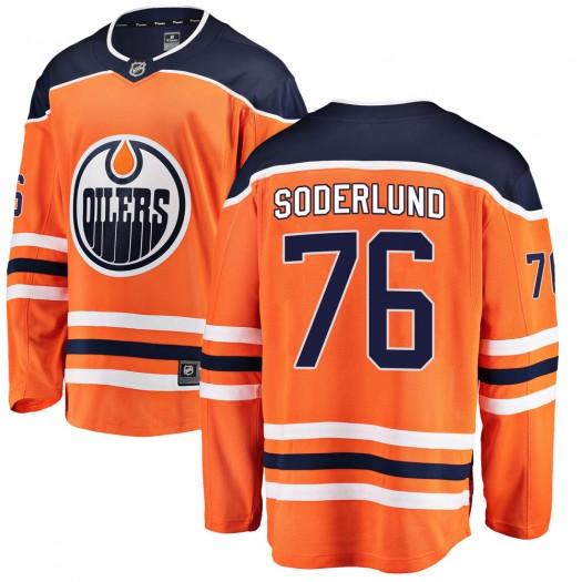 Tim Soderlund Edmonton Oilers Men's Fanatics Branded Orange Breakaway Home Jersey