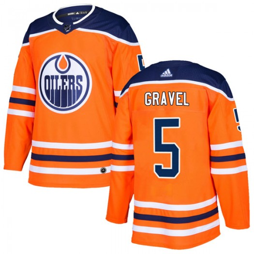 Kevin Gravel Edmonton Oilers Youth Adidas Authentic Orange r Home Jersey