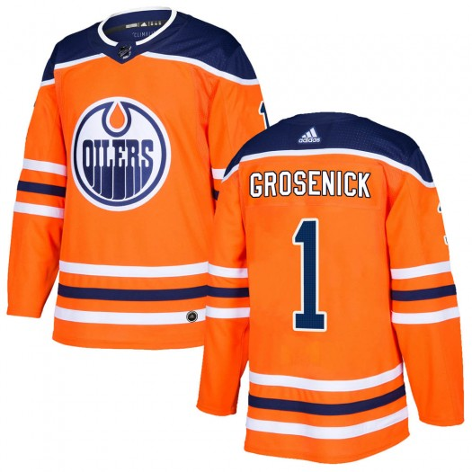 Troy Grosenick Edmonton Oilers Youth Adidas Authentic Orange r Home Jersey