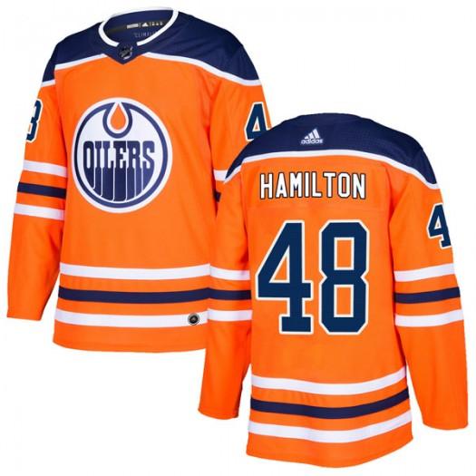 Ryan Hamilton Edmonton Oilers Youth Adidas Authentic Orange r Home Jersey