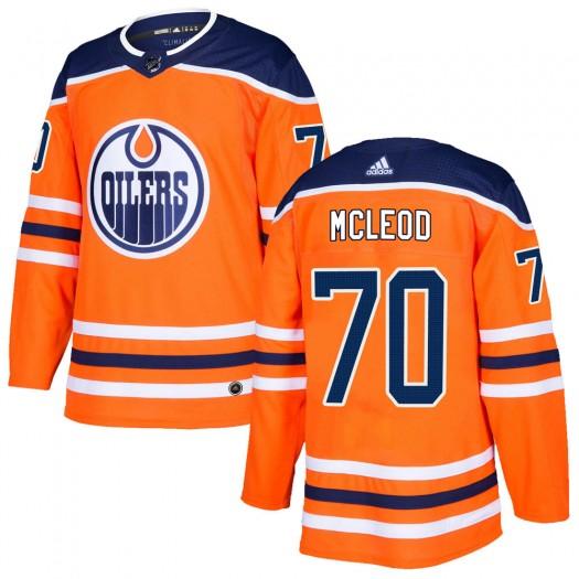 Ryan McLeod Edmonton Oilers Youth Adidas Authentic Orange ized r Home Jersey