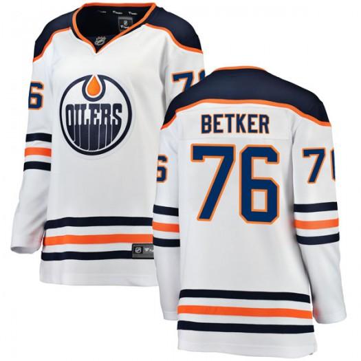 Ben Betker Edmonton Oilers Women's Fanatics Branded Authentic White Away Breakaway Jersey