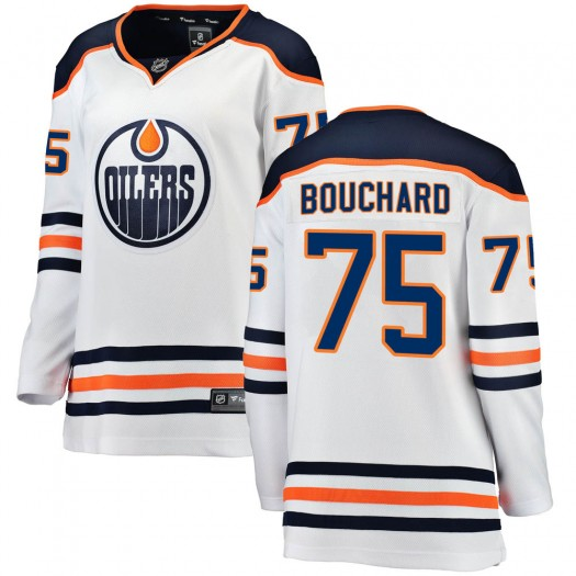 Evan Bouchard Edmonton Oilers Women's Fanatics Branded White ized Breakaway Away Jersey