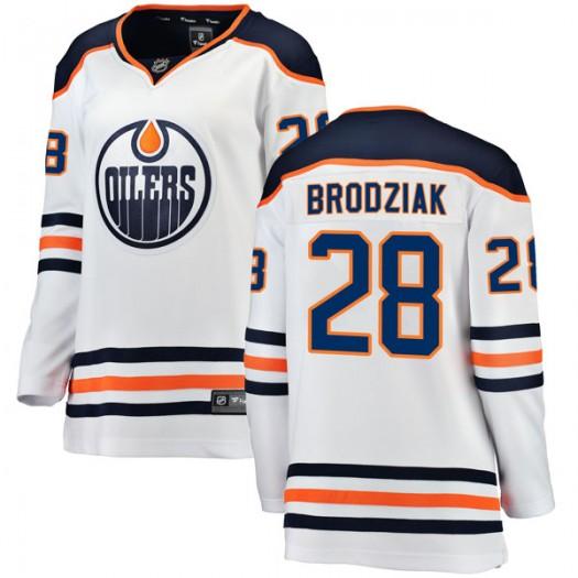 Kyle Brodziak Edmonton Oilers Women's Fanatics Branded White Breakaway Away Jersey