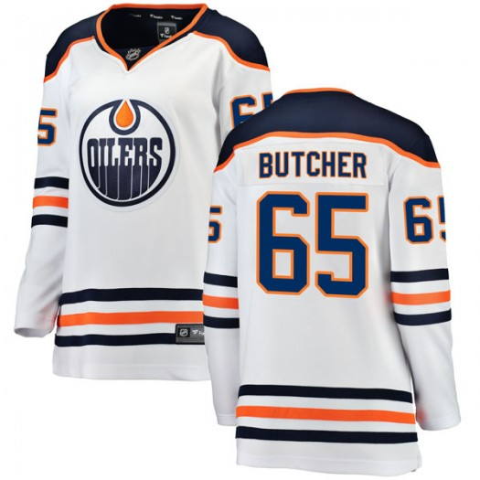 Chad Butcher Edmonton Oilers Women's Fanatics Branded Authentic White Away Breakaway Jersey