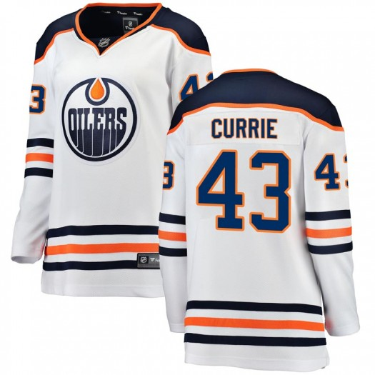 Josh Currie Edmonton Oilers Women's Fanatics Branded White Breakaway Away Jersey
