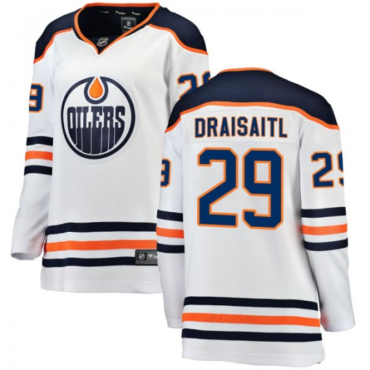 Leon Draisaitl Edmonton Oilers Women's Fanatics Branded Authentic White Away Breakaway Jersey
