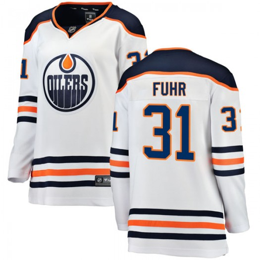 Grant Fuhr Edmonton Oilers Women's Fanatics Branded Authentic White Away Breakaway Jersey