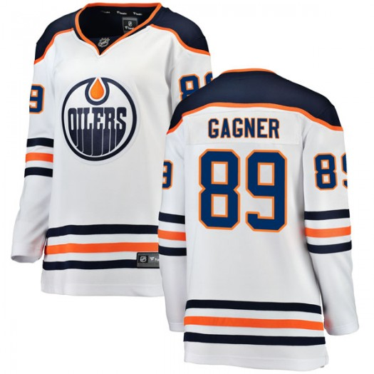 Sam Gagner Edmonton Oilers Women's Fanatics Branded White Breakaway Away Jersey