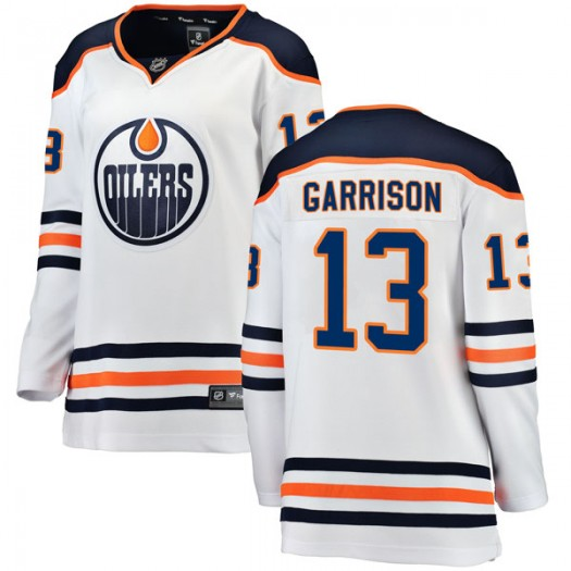 Jason Garrison Edmonton Oilers Women's Fanatics Branded White Breakaway Away Jersey