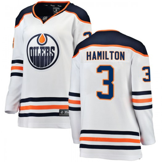 Al Hamilton Edmonton Oilers Women's Fanatics Branded Authentic White Away Breakaway Jersey