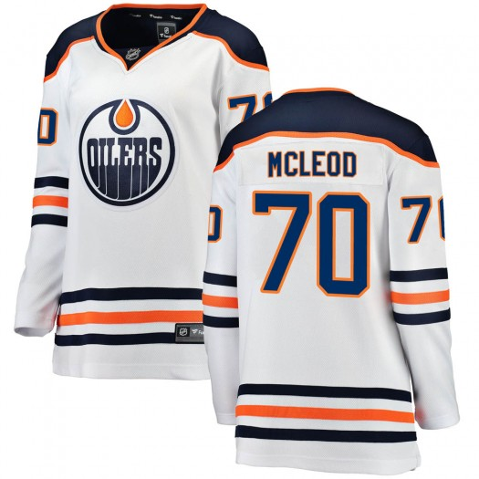 Ryan McLeod Edmonton Oilers Women's Fanatics Branded White ized Breakaway Away Jersey