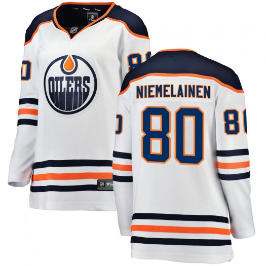 Markus Niemelainen Edmonton Oilers Women's Fanatics Branded Authentic White Away Breakaway Jersey