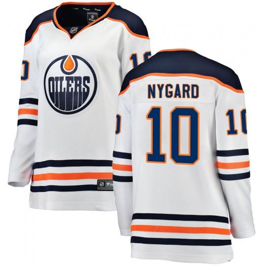 Joakim Nygard Edmonton Oilers Women's Fanatics Branded White Breakaway Away Jersey