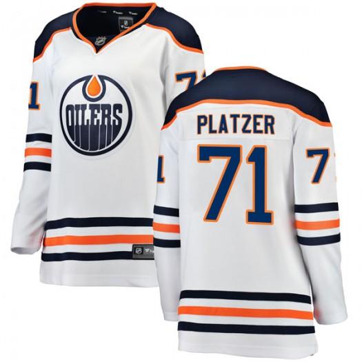 Kyle Platzer Edmonton Oilers Women's Fanatics Branded Authentic White Away Breakaway Jersey