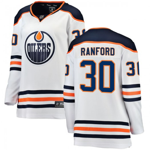Bill Ranford Edmonton Oilers Women's Fanatics Branded Authentic White Away Breakaway Jersey