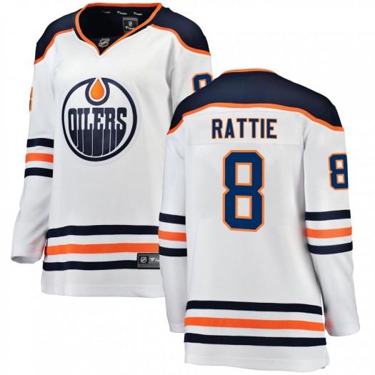 Ty Rattie Edmonton Oilers Women's Fanatics Branded White Breakaway Away Jersey