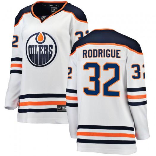 Olivier Rodrigue Edmonton Oilers Women's Fanatics Branded White Breakaway Away Jersey