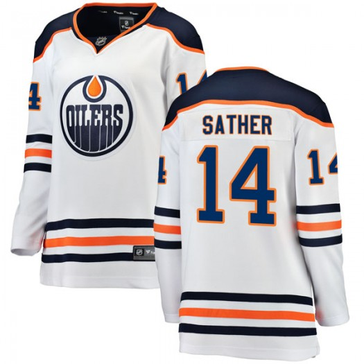 Glen Sather Edmonton Oilers Women's Fanatics Branded Authentic White Away Breakaway Jersey