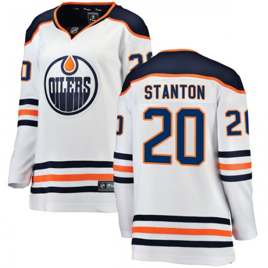 Ryan Stanton Edmonton Oilers Women's Fanatics Branded Authentic White Away Breakaway Jersey