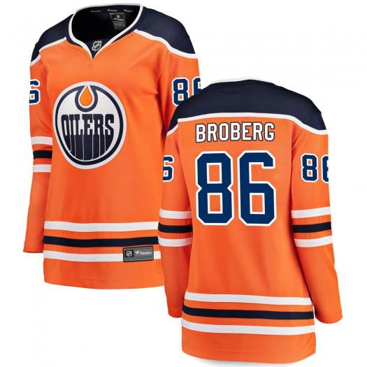 Philip Broberg Edmonton Oilers Women's Fanatics Branded Orange Breakaway Home Jersey