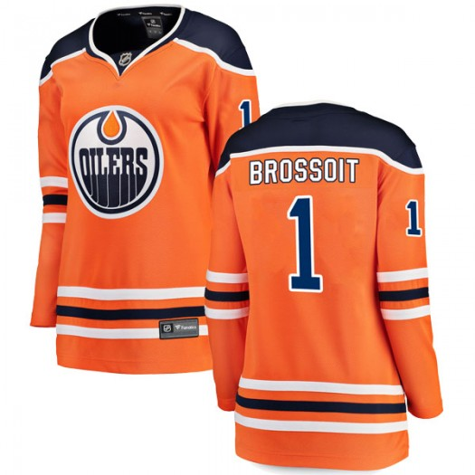 Laurent Brossoit Edmonton Oilers Women's Fanatics Branded Authentic Orange r Home Breakaway Jersey