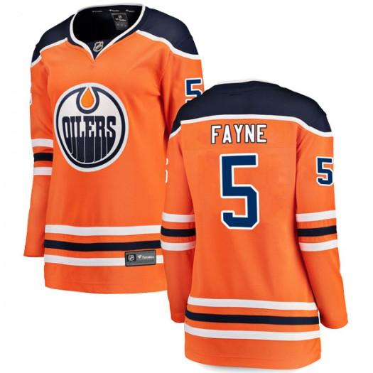 Mark Fayne Edmonton Oilers Women's Fanatics Branded Authentic Orange r Home Breakaway Jersey