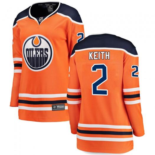Duncan Keith Edmonton Oilers Women's Fanatics Branded Orange Breakaway Home Jersey