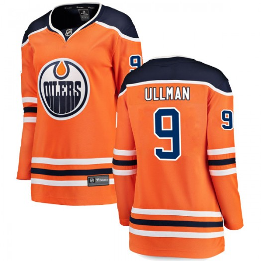 Norm Ullman Edmonton Oilers Women's Fanatics Branded Authentic Orange r Home Breakaway Jersey