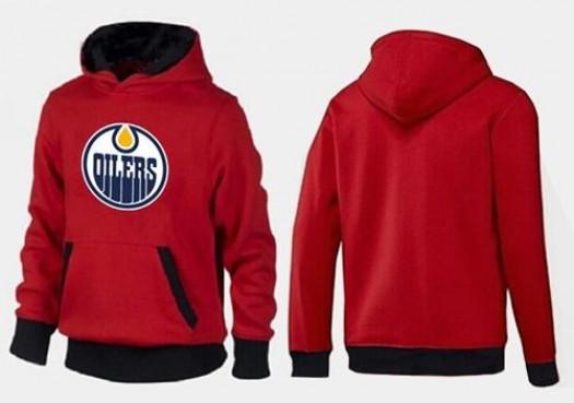 Edmonton Oilers Men's Red/Black Big & Tall Logo Pullover Hoodie