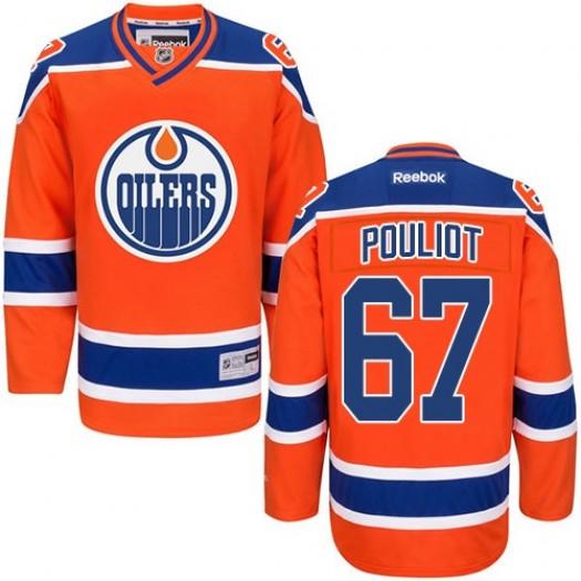 Benoit Pouliot Edmonton Oilers Men's Reebok Premier Orange Third Jersey