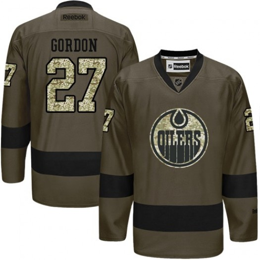 Boyd Gordon Edmonton Oilers Men's Reebok Authentic Green Salute to Service Jersey
