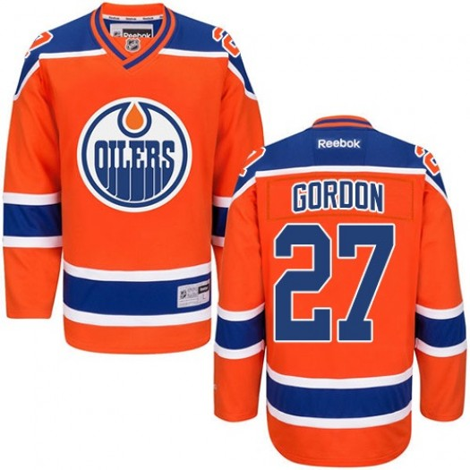 Boyd Gordon Edmonton Oilers Men's Reebok Premier Orange Third Jersey