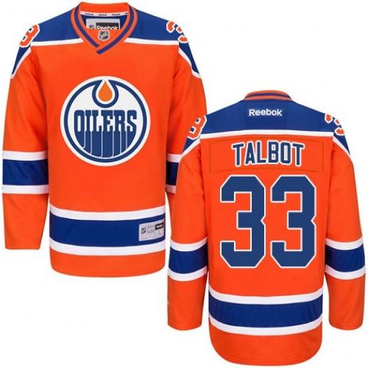 Cam Talbot Edmonton Oilers Men's Reebok Authentic Orange Third Jersey