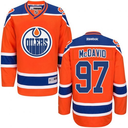 Connor McDavid Edmonton Oilers Youth Reebok Premier Orange Third Jersey