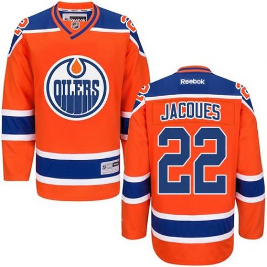 Jean-Francois Jacques Edmonton Oilers Men's Reebok Premier Orange Third Jersey