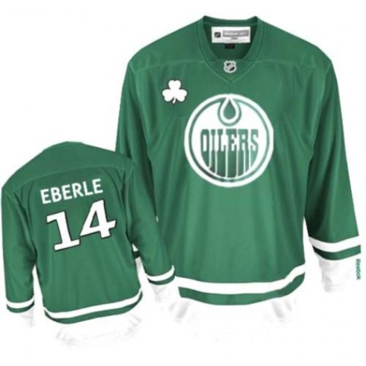 Jordan Eberle Edmonton Oilers Men's Reebok Authentic Green St Patty's Day Jersey