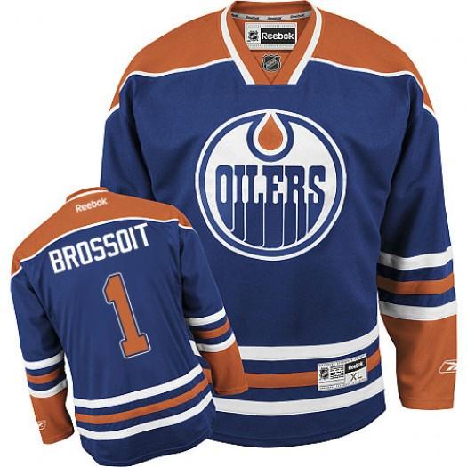 Laurent Brossoit Edmonton Oilers Men's Reebok Premier Royal Blue Home Jersey