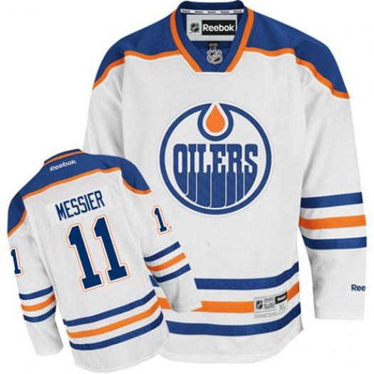 Mark Messier Edmonton Oilers Men's Reebok Authentic White Away Jersey