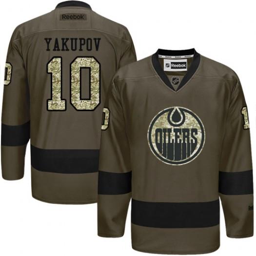 Nail Yakupov Edmonton Oilers Men's Reebok Authentic Green Salute to Service Jersey