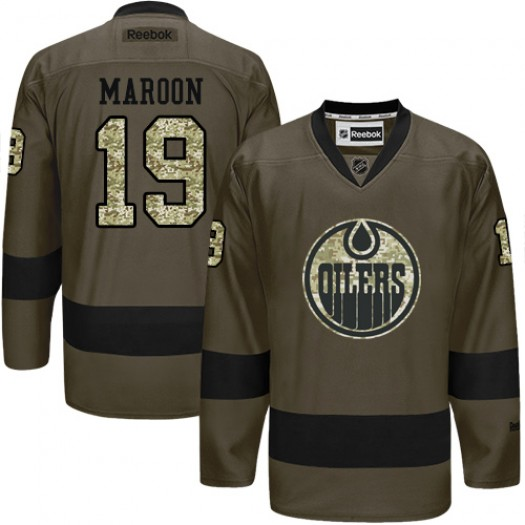 Patrick Maroon Edmonton Oilers Men's Reebok Authentic Green Salute to Service Jersey